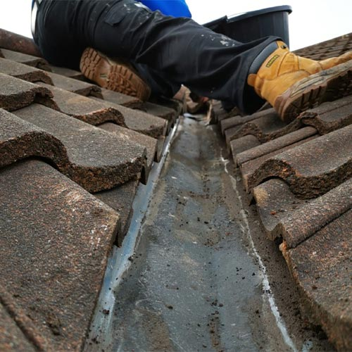 gutter and roof maintenance