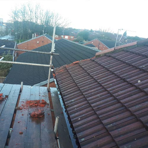 gutter and roof work